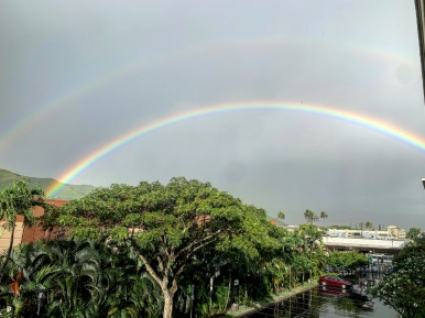 Double rainbow from our lanai.